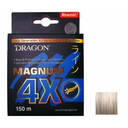 DRAGON Magnum 4X  0,16mm / 150m / 13,80kg kuitusiima vaaleanharmaa
