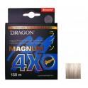 DRAGON Magnum 4X  0,25mm / 150m / 20,70kg kuitusiima vaaleanharmaa
