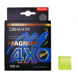 DRAGON Magnum 4X  0,18mm / 150m / 15,40kg kuitusiima keltainen FLUO