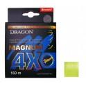 DRAGON Magnum 4X  0,25mm / 150m / 20,70kg kuitusiima keltainen FLUO