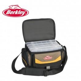 Berkley Bag System kalastuslaukku 28x19.5x18.5cm + 4 rasiat 28x18x4cm