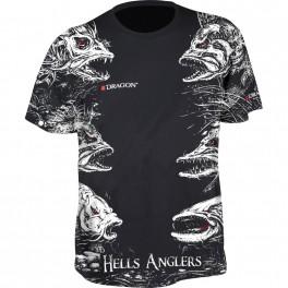 Dragon t-paita, HELLS ANGLERS MIX Musta L