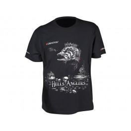 Dragon t-paita, HELLS ANGLERS ahven Musta L