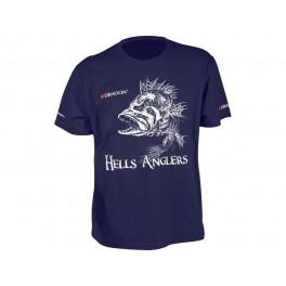 Dragon t-paita, HELLS ANGLERS ahven Sininen S