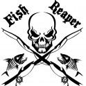 "Nakejka samochodowa ""Fish Ripper"" 17x17cm czarna"