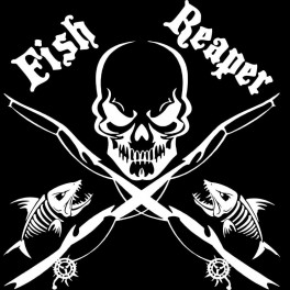 "Nakejka samochodowa ""Fish Ripper"" 17x17cm biała"