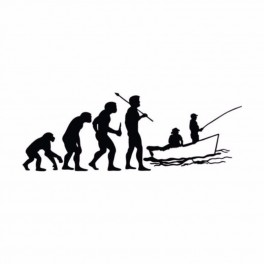 """Nakejka samochodowa """"Ewolucja"""" 15,2x5,5cm czarna"""