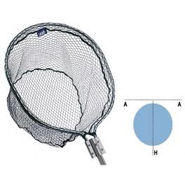 Podbierak Jaxon Multipower z gumowaną siatką 185 cm / 55x70 cm